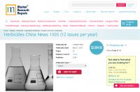 Herbicides China News 1505 (12 issues per year)
