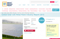 Global Solar Cell Metal Paste Industry Report 2015