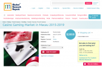 Casino Gaming Market in Macau 2015 - 2019