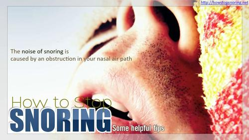 How To Stop Snoring'