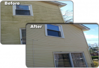 House - Before & After Pressure Washing