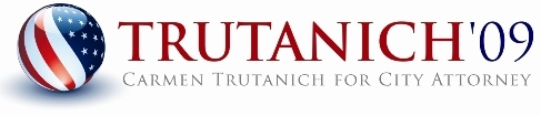 Logo for Trutanich for City Attorney'