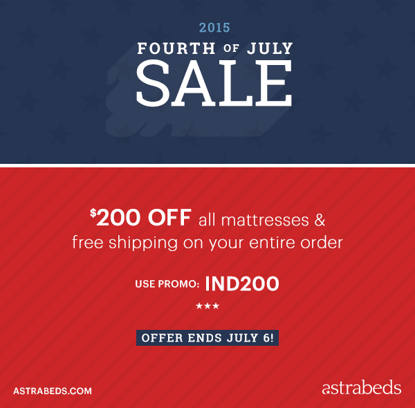 Save on Greener Sleep: Astrabeds' 4th of July Matt