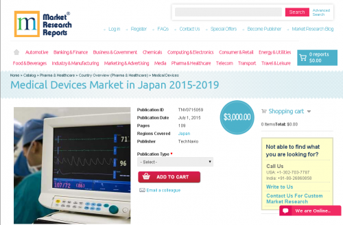 Medical Devices Market in Japan 2015-2019'