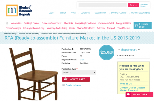 RTA (Ready-to-assemble) Furniture Market in the US 2015-2019'