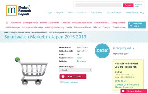 Smartwatch Market in Japan 2015-2019'