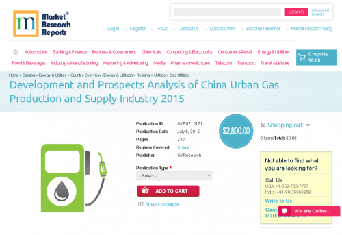 Development and Prospects Analysis of China Urban Gas'