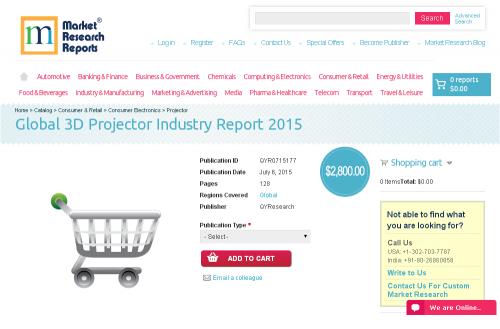 Global 3D Projector Industry Report 2015'