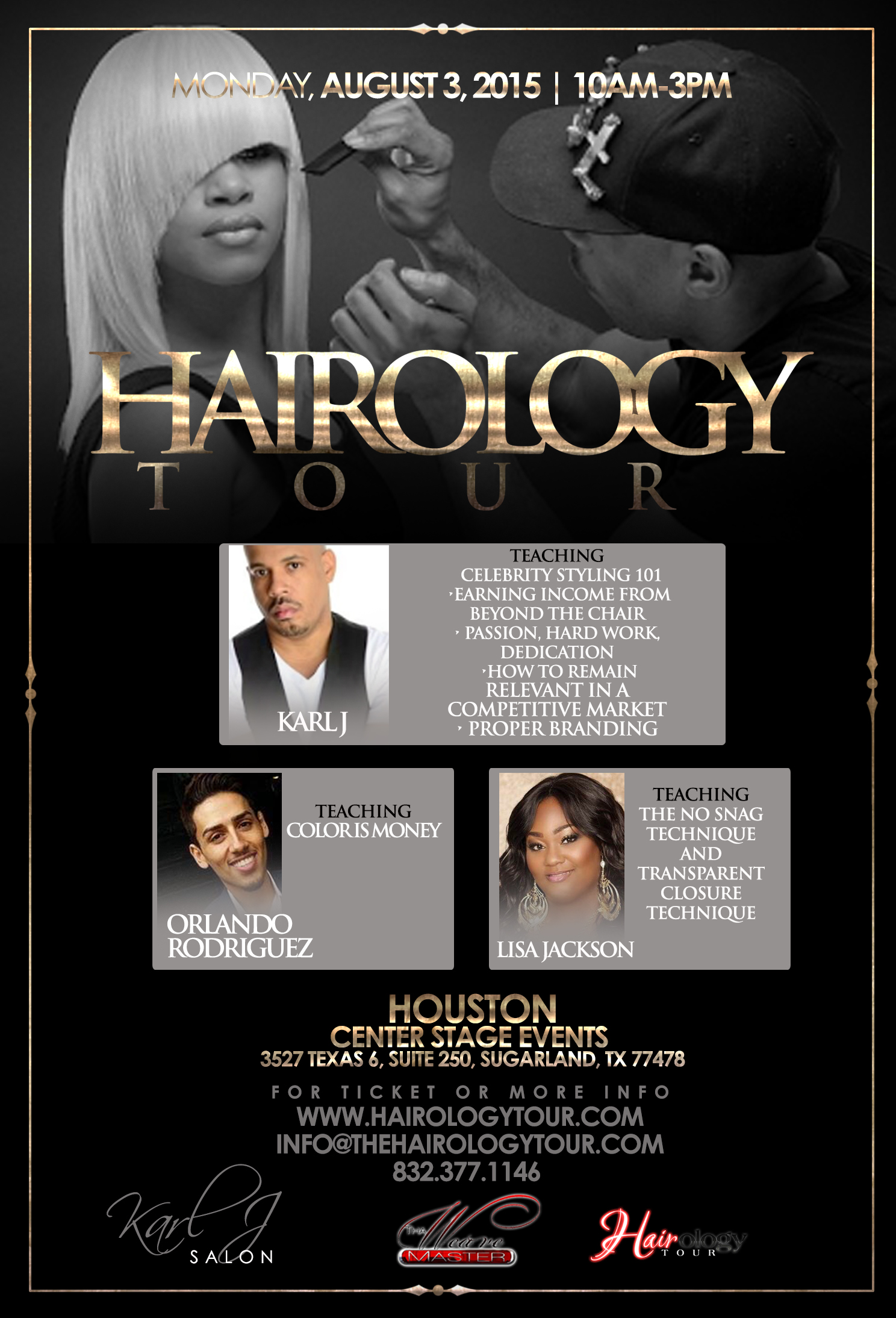 Hairology Tour with Karl J in Houston Texas