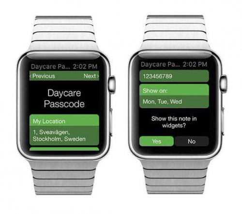 RemindMeAt App on Apple Watch'