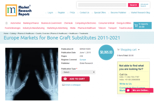 Europe Markets for Bone Graft Substitutes 2011-2021'