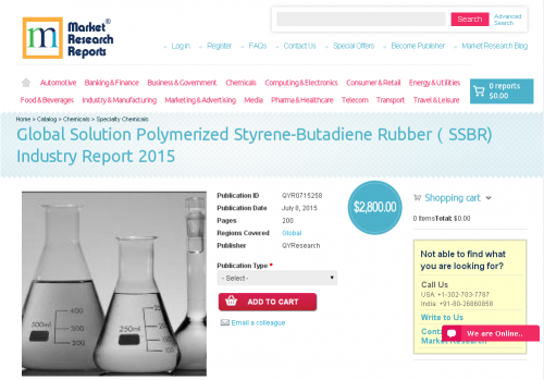 Global Solution Polymerized Styrene-Butadiene Rubber(SSBR)'