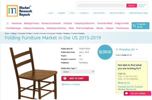 Folding Furniture Market in the US 2015-2019'