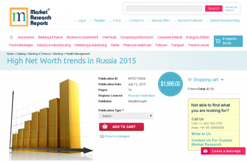 High Net Worth trends in Russia 2015'