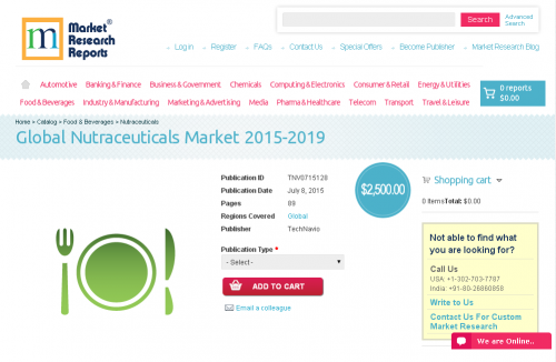 Global Nutraceuticals Market 2015-2019'