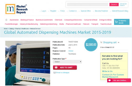 Global Automated Dispensing Machines Market 2015-2019'