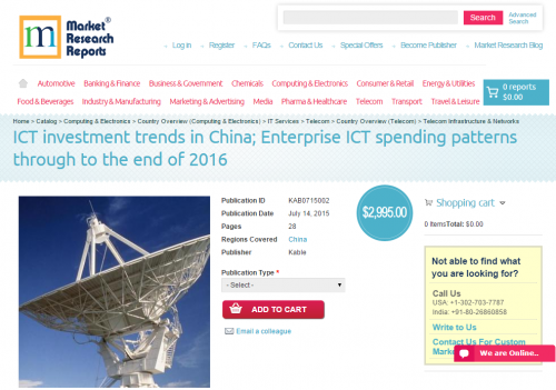 ICT investment trends in China 2016'