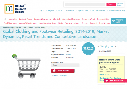Global Clothing and Footwear Retailing 2014 - 2019'