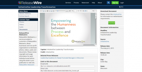 MediaWire by ReleaseWire - Documents'
