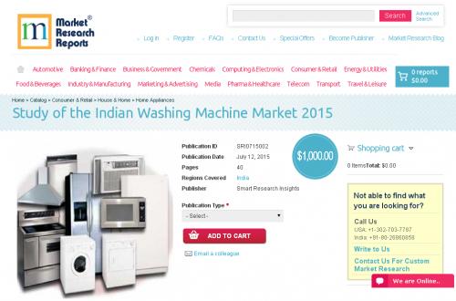 Study of the Indian Washing Machine Market 2015'