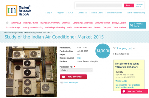 Study of the Indian Air Conditioner Market 2015'