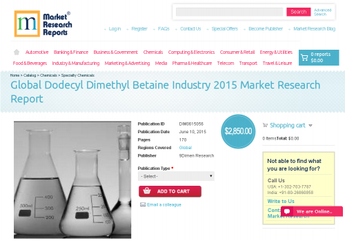 Global Dodecyl Dimethyl Betaine Industry 2015'