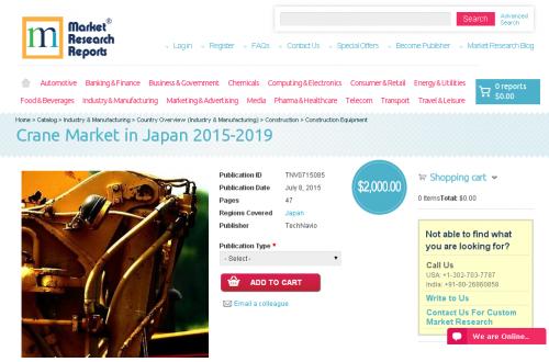 Crane Market in Japan 2015-2019'