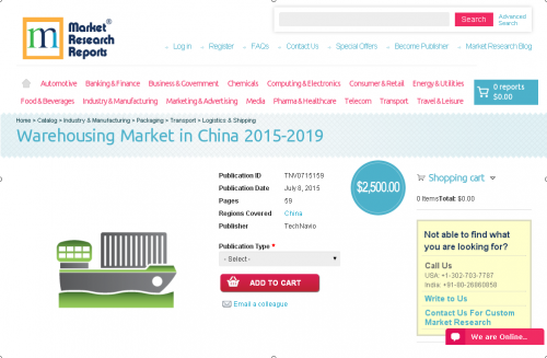 Warehousing Market in China 2015-2019'