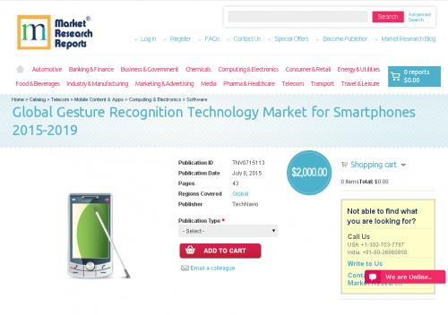 Global Gesture Recognition Technology Market for Smartphones'