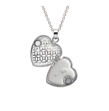 OPEN HEART PERFUME NECKLACE'