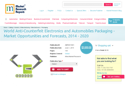 World Anti-Counterfeit Electronics and Automobiles Packaging'