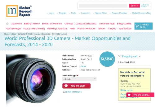 World Professional 3D Camera - Market Opportunities'