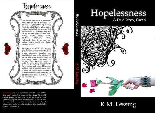 New book by K.M. Lessing, Hopelessness'