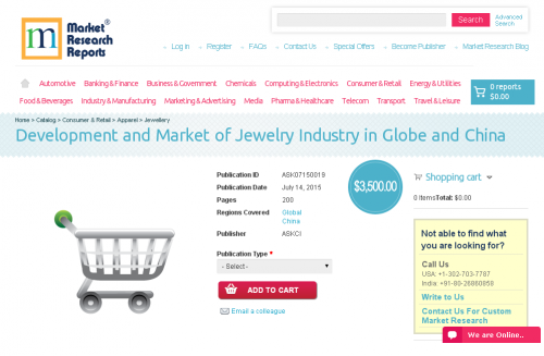 Development and Market of Jewelry Industry'