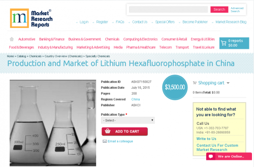 Production and Market of Lithium Hexafluorophosphate'