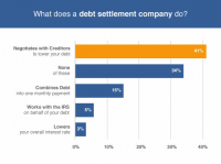 What does a debt settlement company do?