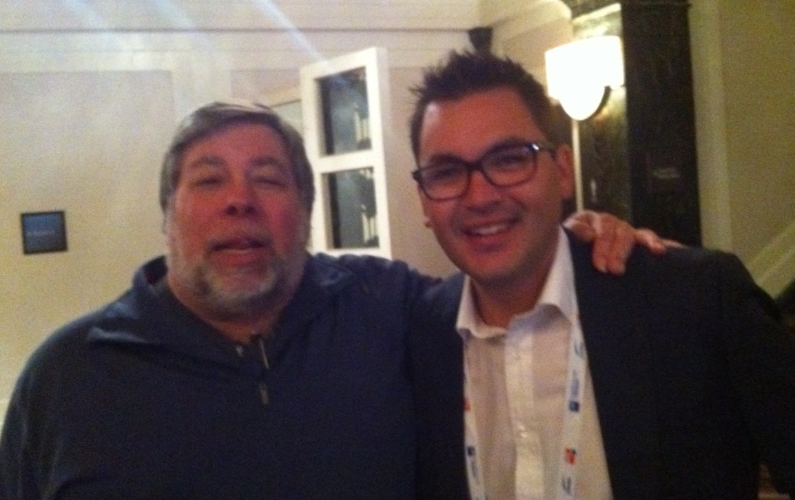Dukbill Founder, Nathan Kerr with Steve Wozniak