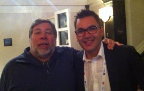 Dukbill Founder, Nathan Kerr with Steve Wozniak'