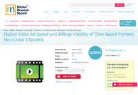 Digital Video Ad Spend and Billings Viability of Time-Based