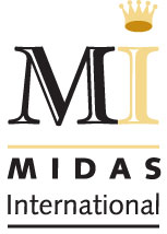 Logo for Midas International'
