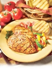 Grilled Southwestern Chicken with Lemon-Pecan Butter'