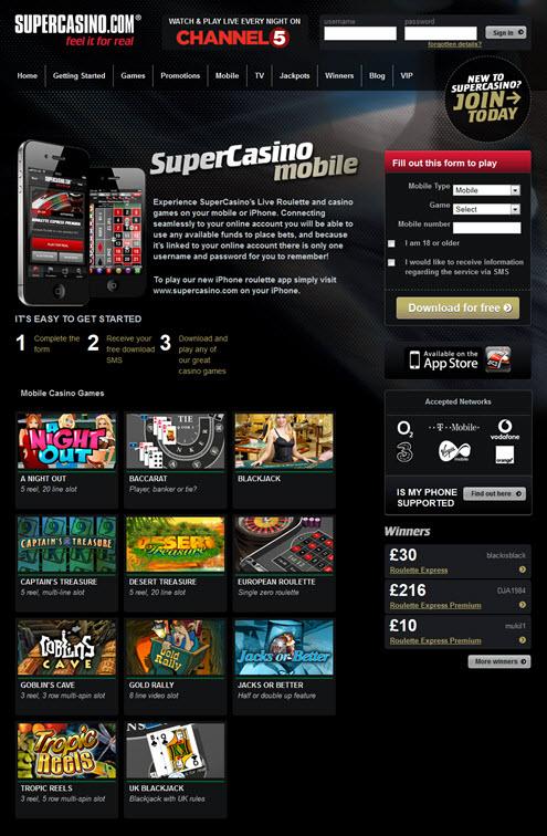 SuperCasino Mobile'