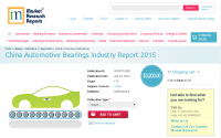 China Automotive Bearings Industry Report 2015