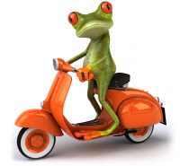 New and Improved Ride Green Scooters