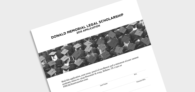 Donald Memorial Legal Scholarship