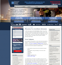 Houston Auto Accident Lawyers Website