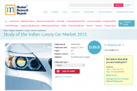 Study of the Indian Luxury Car Market 2015