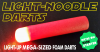 LIGHT-NoODLE DARTS - They Light Up So You Can Find Them!'