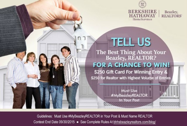 Tell Us What You Like About Your Beazley, REALTOR Contest