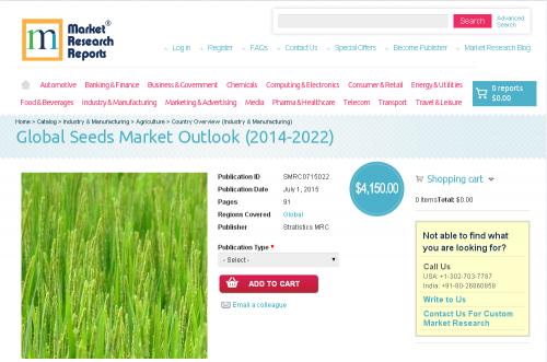 Global Seeds Market Outlook (2014-2022)'